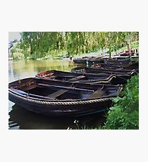 Boats on a lake Photographic Print