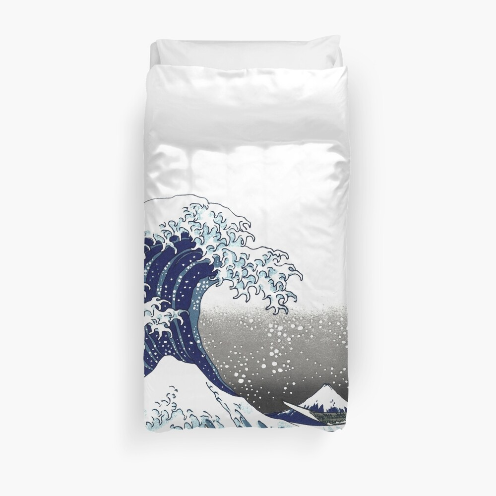 Great Wave, Hokusai 葛飾北斎の神奈川沖浪 Duvet Cover