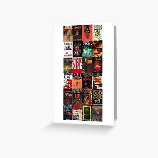 Collage de couverture de livre de Stephen King Carte de vœux