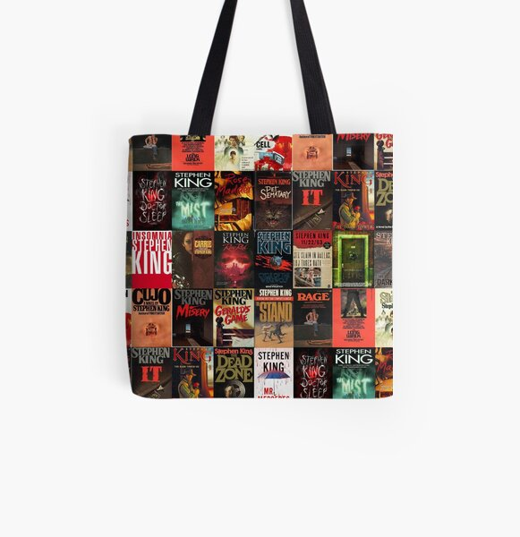 Stephen King Book Cover Collage All Over Print Tote Bag