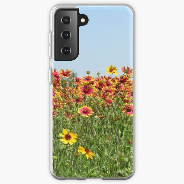 Indian Blanket Wildflowers in a Texas field. Samsung Galaxy Soft Case