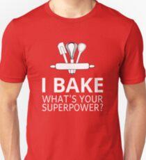 Ich backe was ist deine Supermacht? Slim Fit T-Shirt