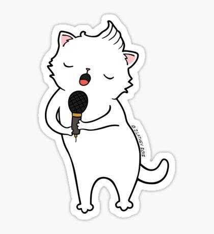 karaoke Cat Sticker