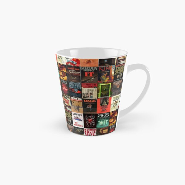 Stephen King Book Cover Collage Tall Mug
