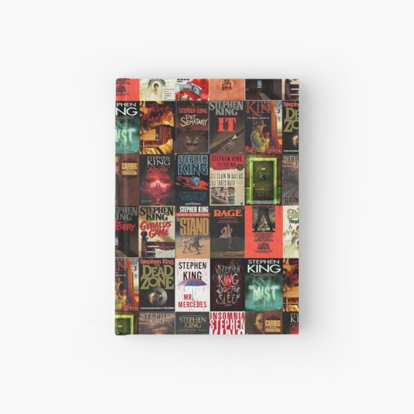 Stephen King Book Cover Collage Hardcover Journal