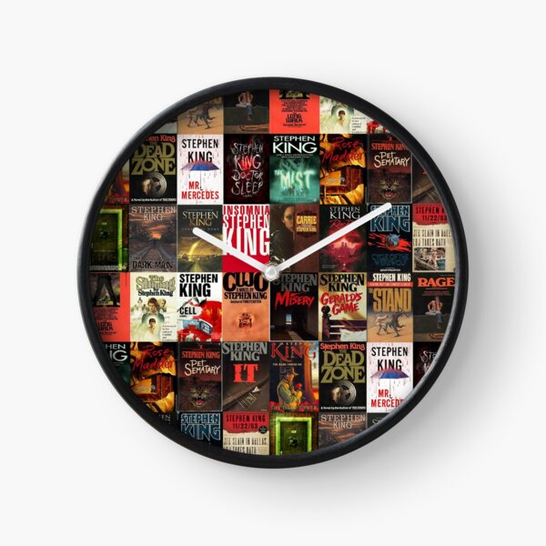 Stephen King Book Cover Collage Clock