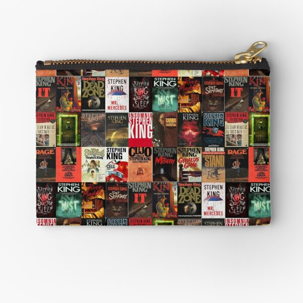 Stephen King Book Cover Collage Zipper Pouch