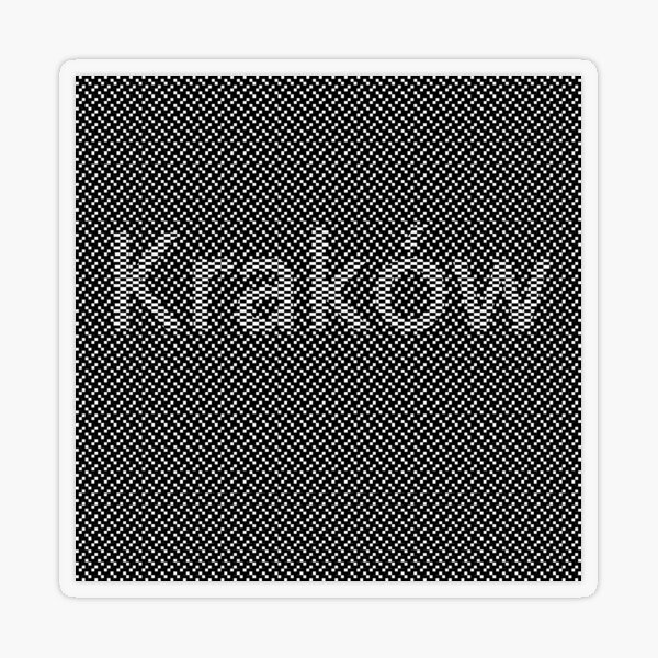 #Kraków (#Cracow, #Krakow), Southern #Poland City, Leading Center of Polish Academic, Economic, Cultural and Artistic Life Transparent Sticker