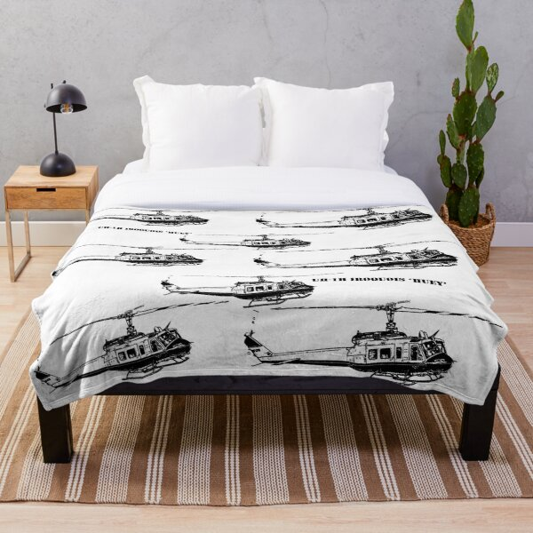 Huey Helicopter Graphic Throw Blanket