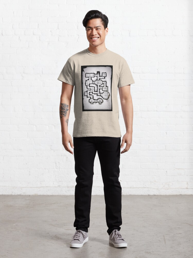 Alternate view of Old School Dungeon 001 Classic T-Shirt