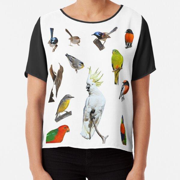 Australian Woodland Birds Chiffon Top