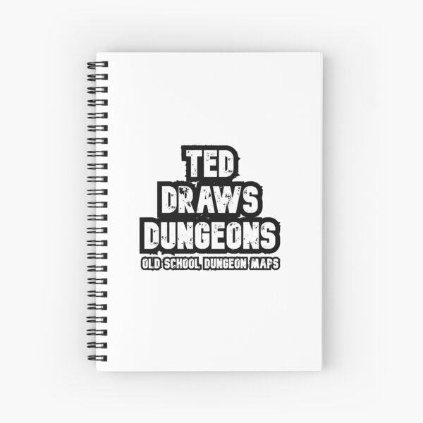 Ted Draws Dungeons Logo  Spiral Notebook