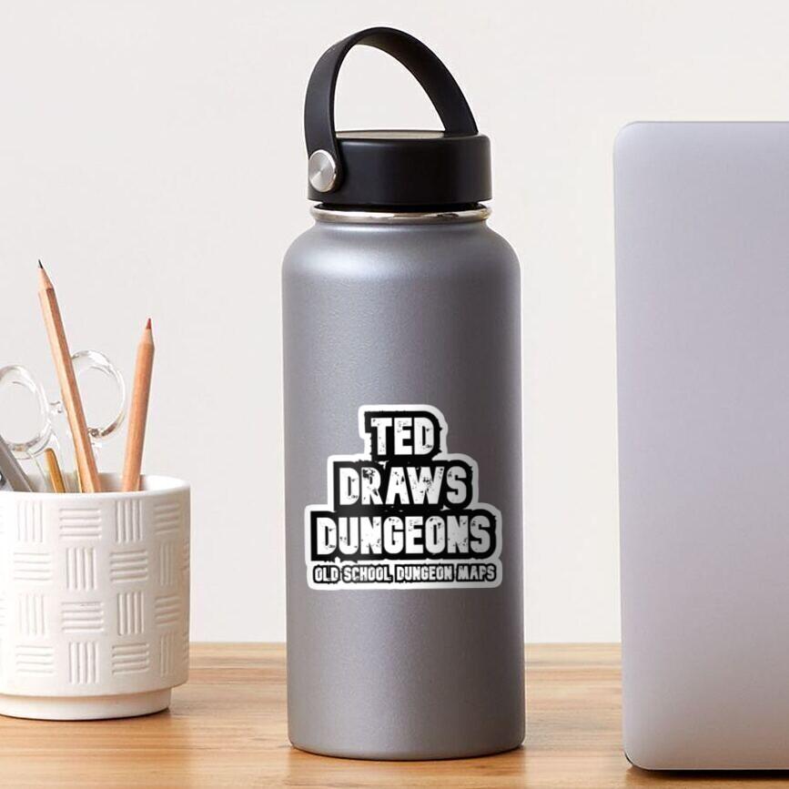 Ted Draws Dungeons Logo  Sticker
