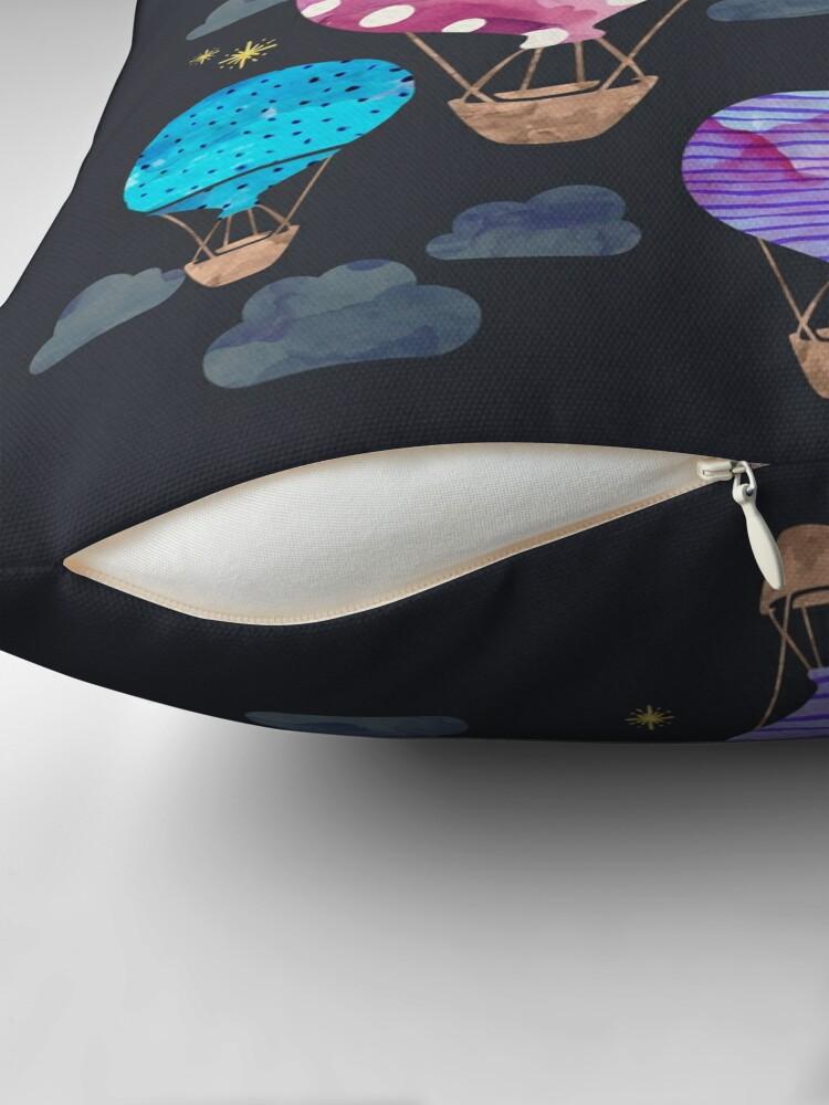Alternative Ansicht von Heißluftballon Nacht Bodenkissen