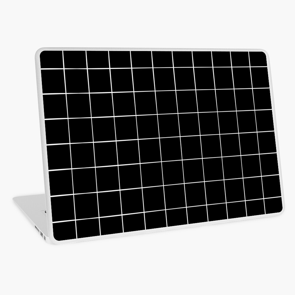 Black Grid Laptop Skin