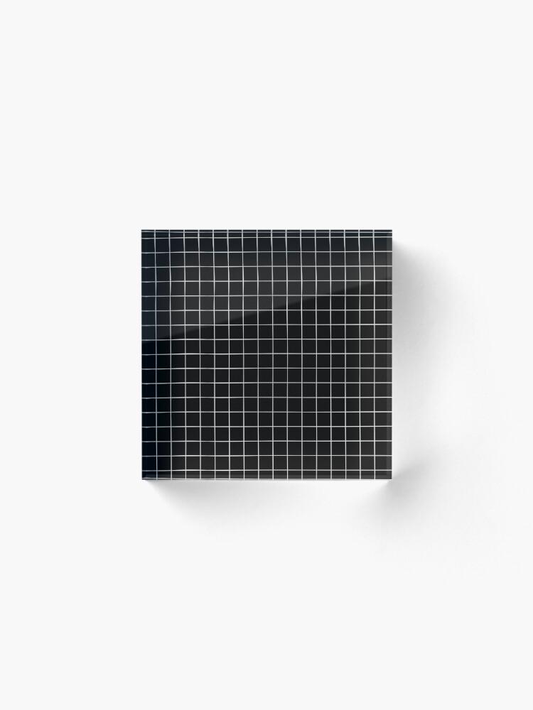 Alternate view of Black Grid Acrylic Block