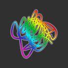 Regenbogen Gekritzel Neon! Moderne abstrakte Kunst - digitale Farbe von Iona Art Digital von IonaArtDigital