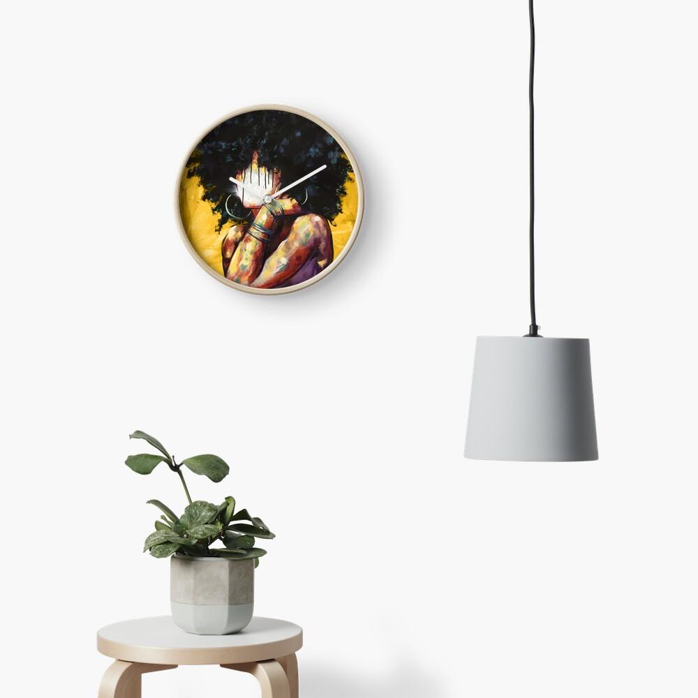 Naturally II GOLD Clock