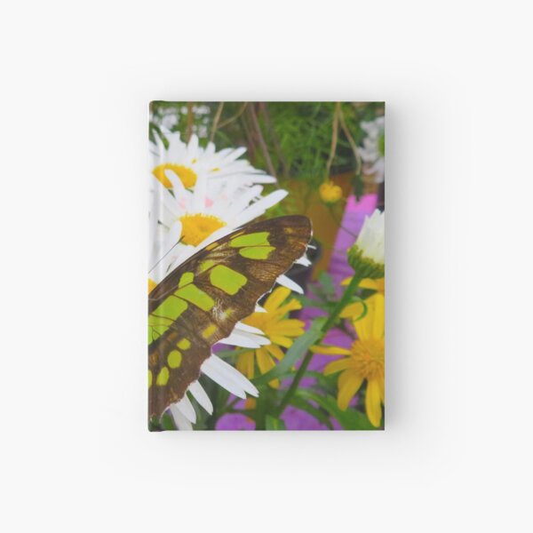 Butterfly in the Flowers Hardcover Journal