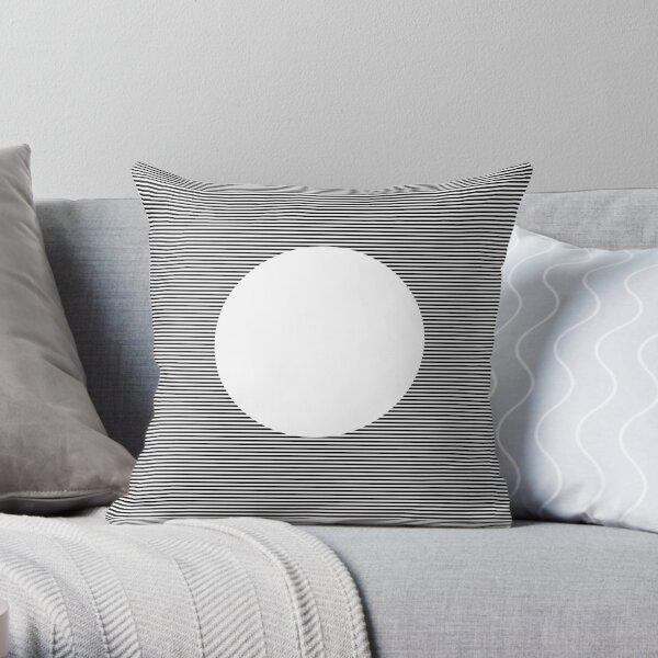 Optical Art: Plane Stripes Make 3-d Sphere Throw Pillow