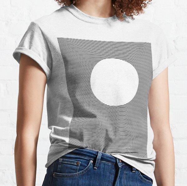 Optical Art: Plane Stripes Make 3-d Sphere Classic T-Shirt