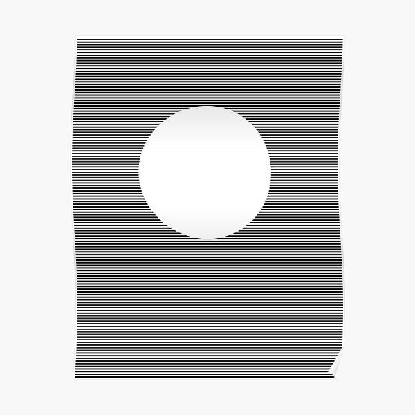 Optical Art: Plane Stripes Make 3-d Sphere Poster