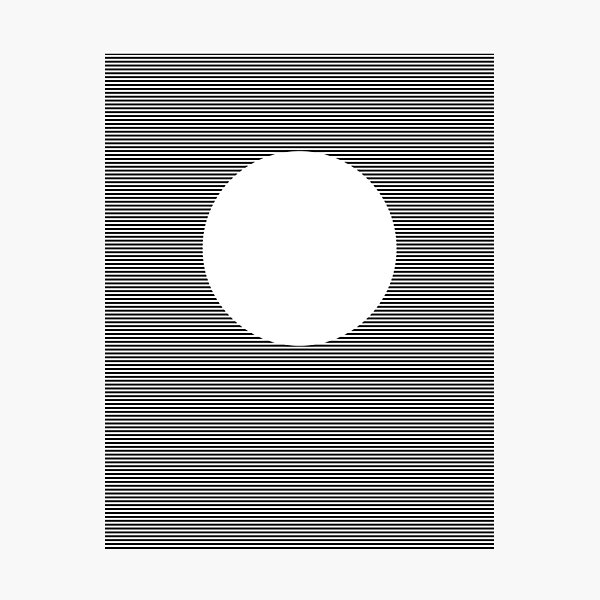 Optical Art: Plane Stripes Make 3-d Sphere Photographic Print