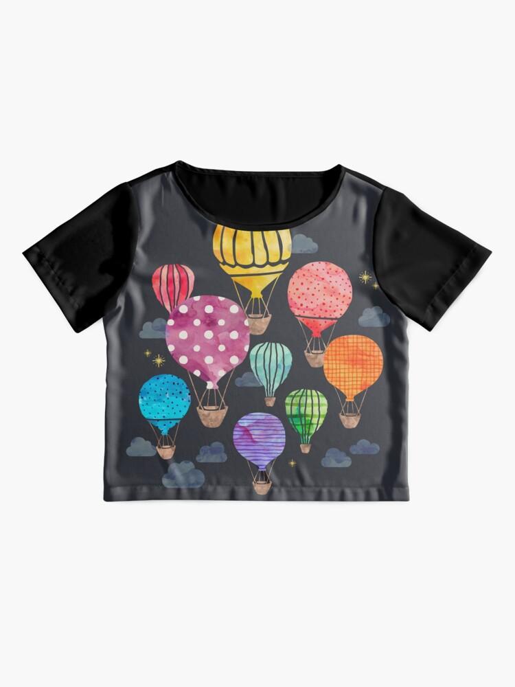 Alternative Ansicht von Heißluftballon Nacht Chiffon Top