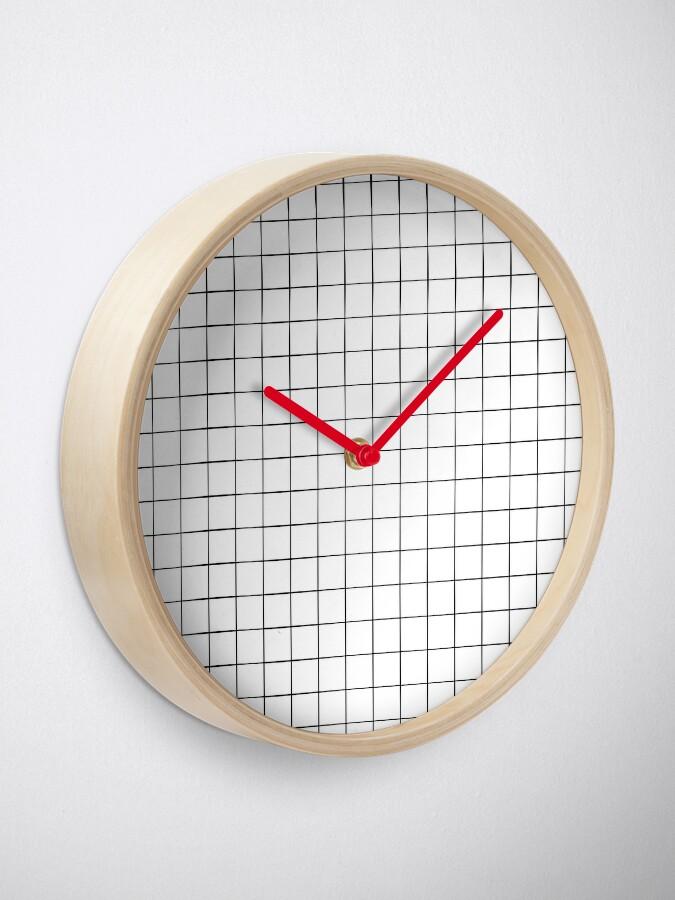 Alternate view of White Grid Clock