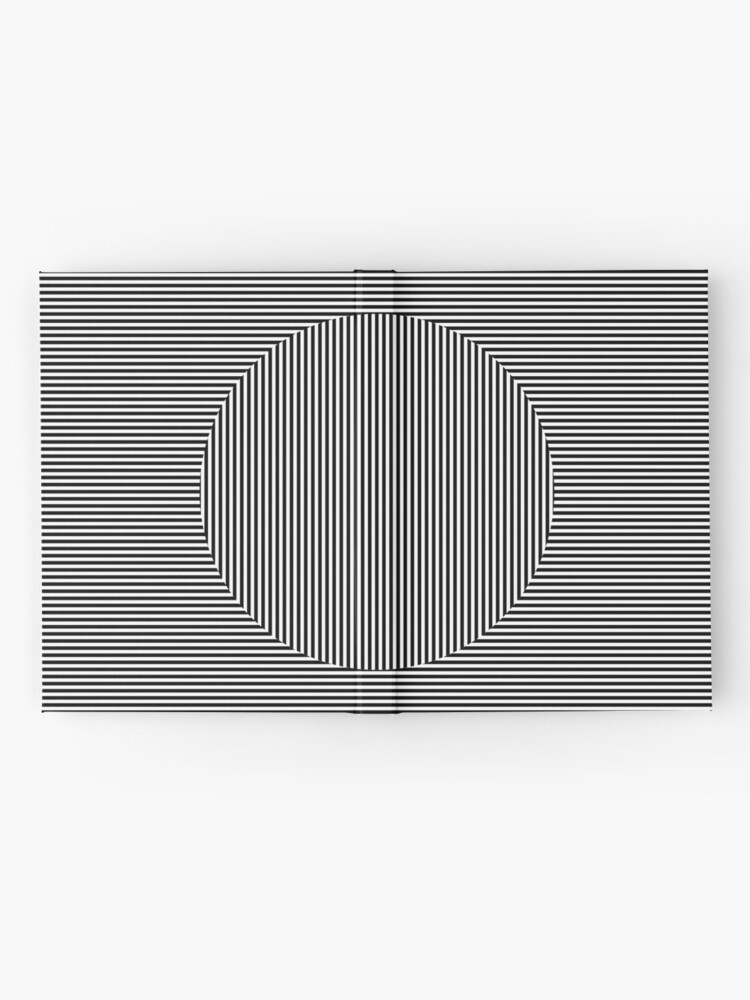 Alternate view of Optical art: flat parallel stripes create a moving circle Hardcover Journal