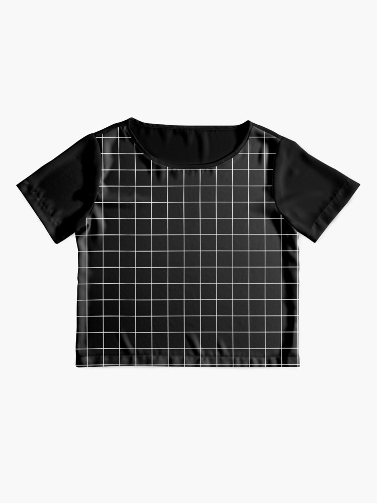 Alternate view of Black Grid Chiffon Top