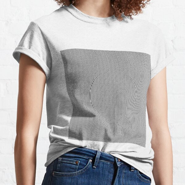 Optical art: flat parallel stripes create a moving circle Classic T-Shirt