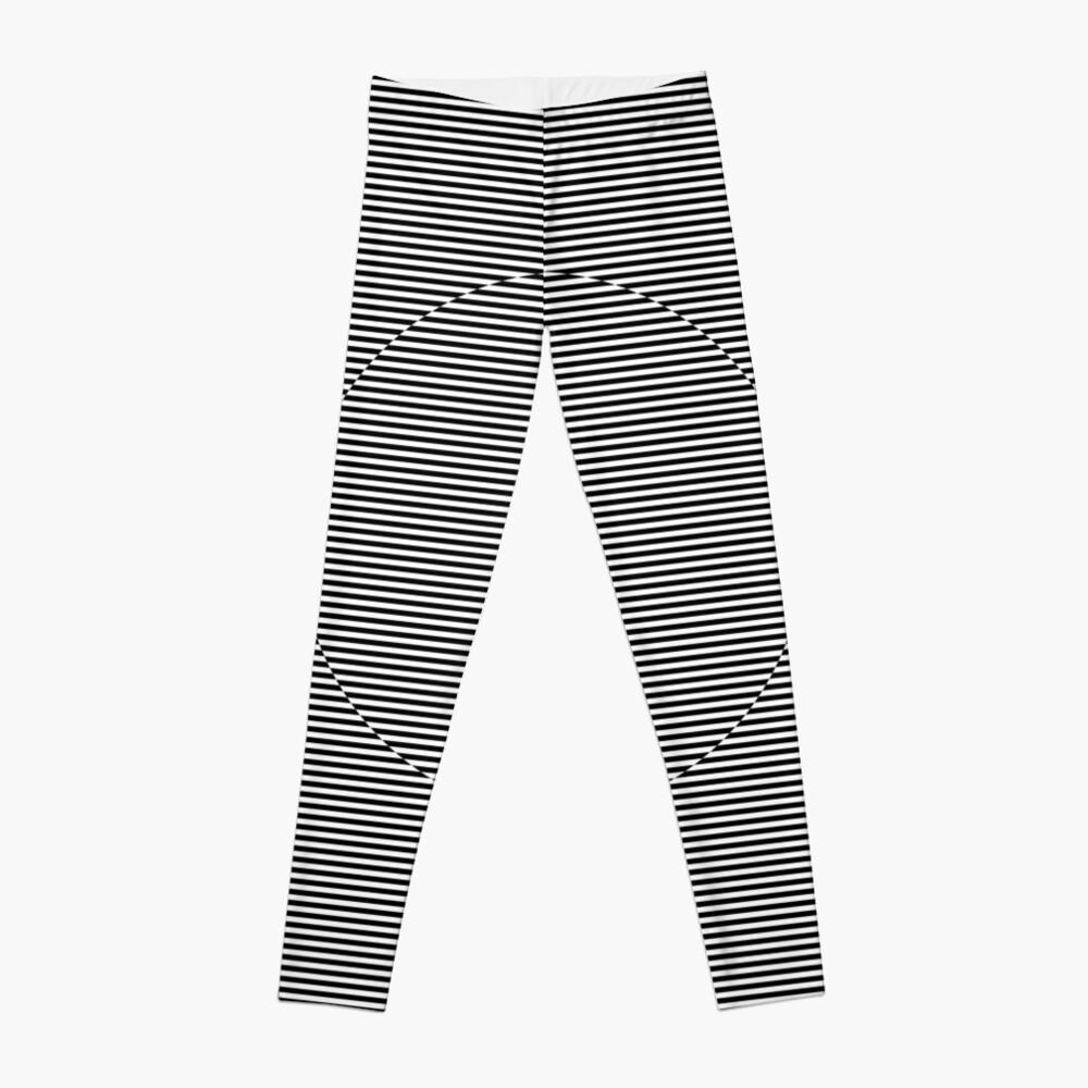 Optical art: flat parallel stripes create a moving circle Leggings