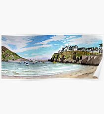 """Chaff Cove # 2"" -  Port Isaac, Cornwall Poster"