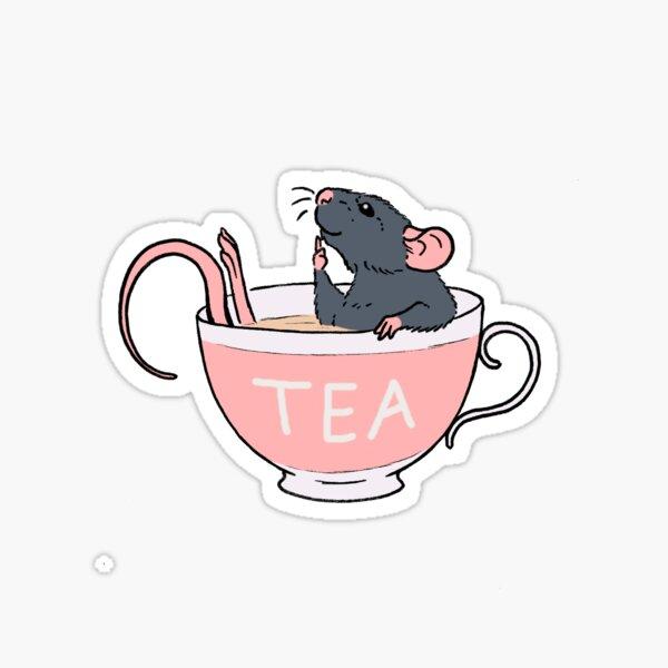 Spill the Rat-Tea Blue Sticker