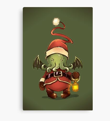 Happy Cthulhu Canvas Print