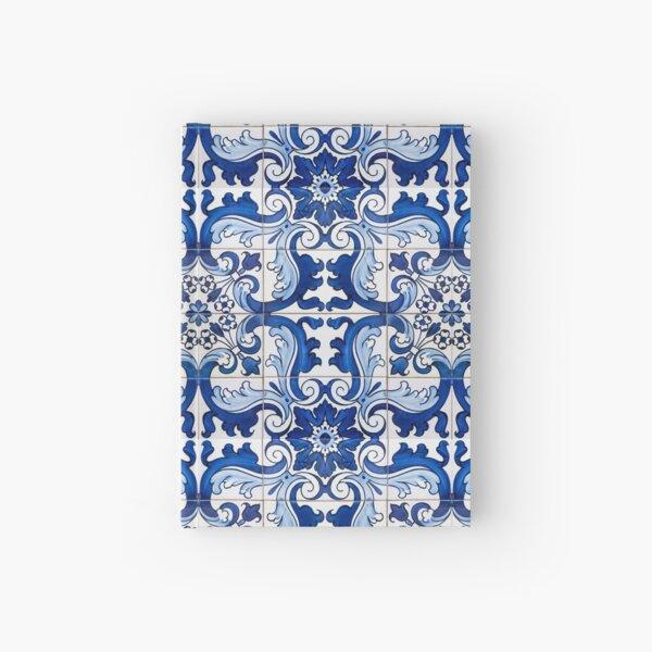 Antique Classic Lisbon Blue Azulejo Tile Floral Pattern Hardcover Journal