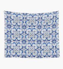 Antikes Azulejo-Fliesen-Blumenmuster Wandbehang