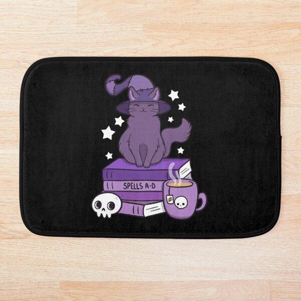 Feline Familiar 02 // Black Bath Mat