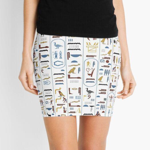 Pharaoh Hieroglyphs Ancient Civilization Egypt Mini Skirt