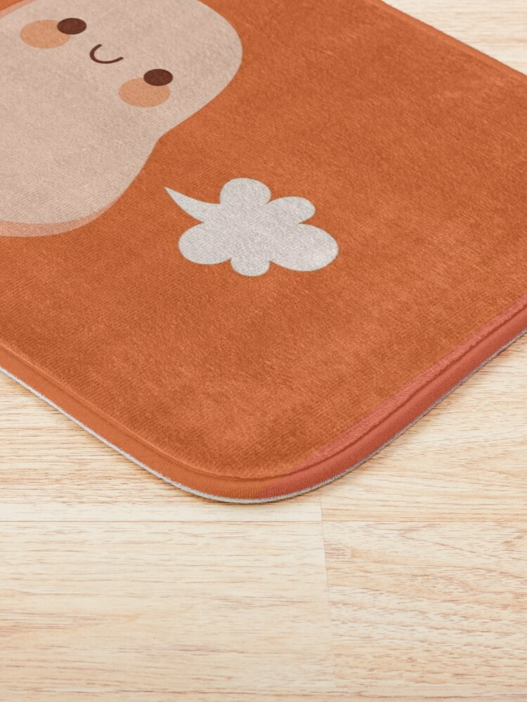 Alternate view of Baked beans farting Bath Mat