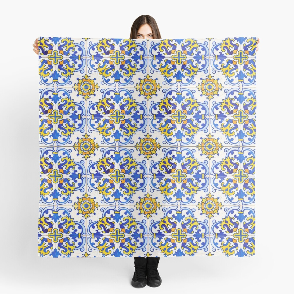 Vintage Azulejos Tile Scarf