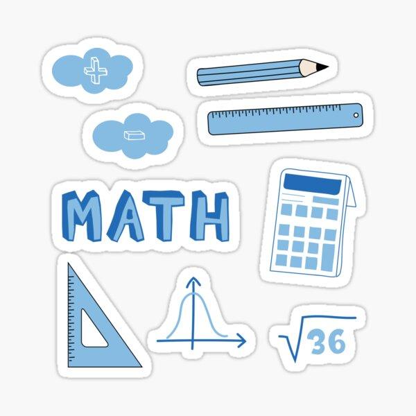 Light Blue Math School Subject Sticker Pack Sticker