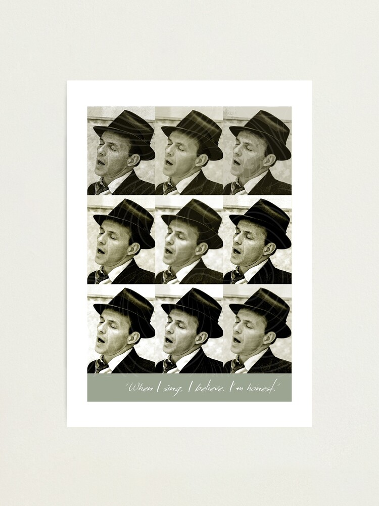 Alternate view of Jazz Heroes Series - Frank Sinatra Photographic Print