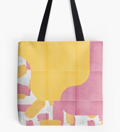 Bold Painted Tiles 03 #redbubble #midmod Tote Bag