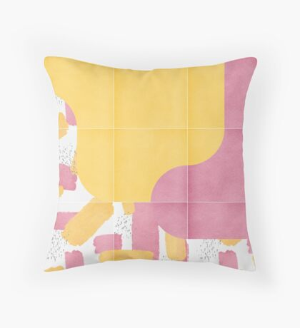 Bold Painted Tiles 03 #redbubble #midmod Floor Pillow