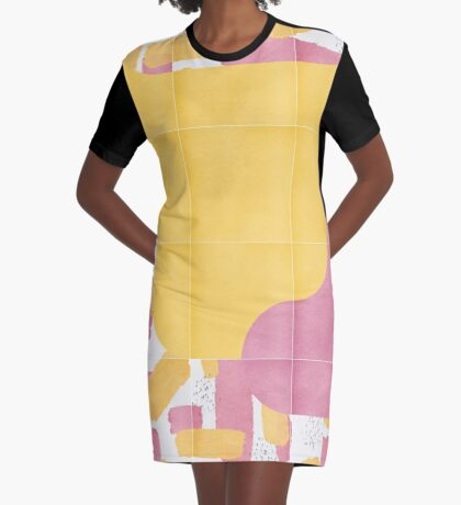 Bold Painted Tiles 03 #redbubble #midmod Graphic T-Shirt Dress