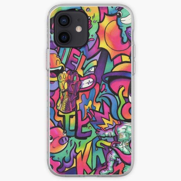 C H A M E L E O N // Copic Marker Doodle iPhone Soft Case