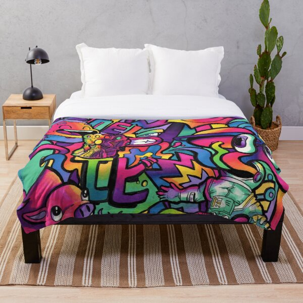 C H A M E L E O N // Copic Marker Doodle Throw Blanket