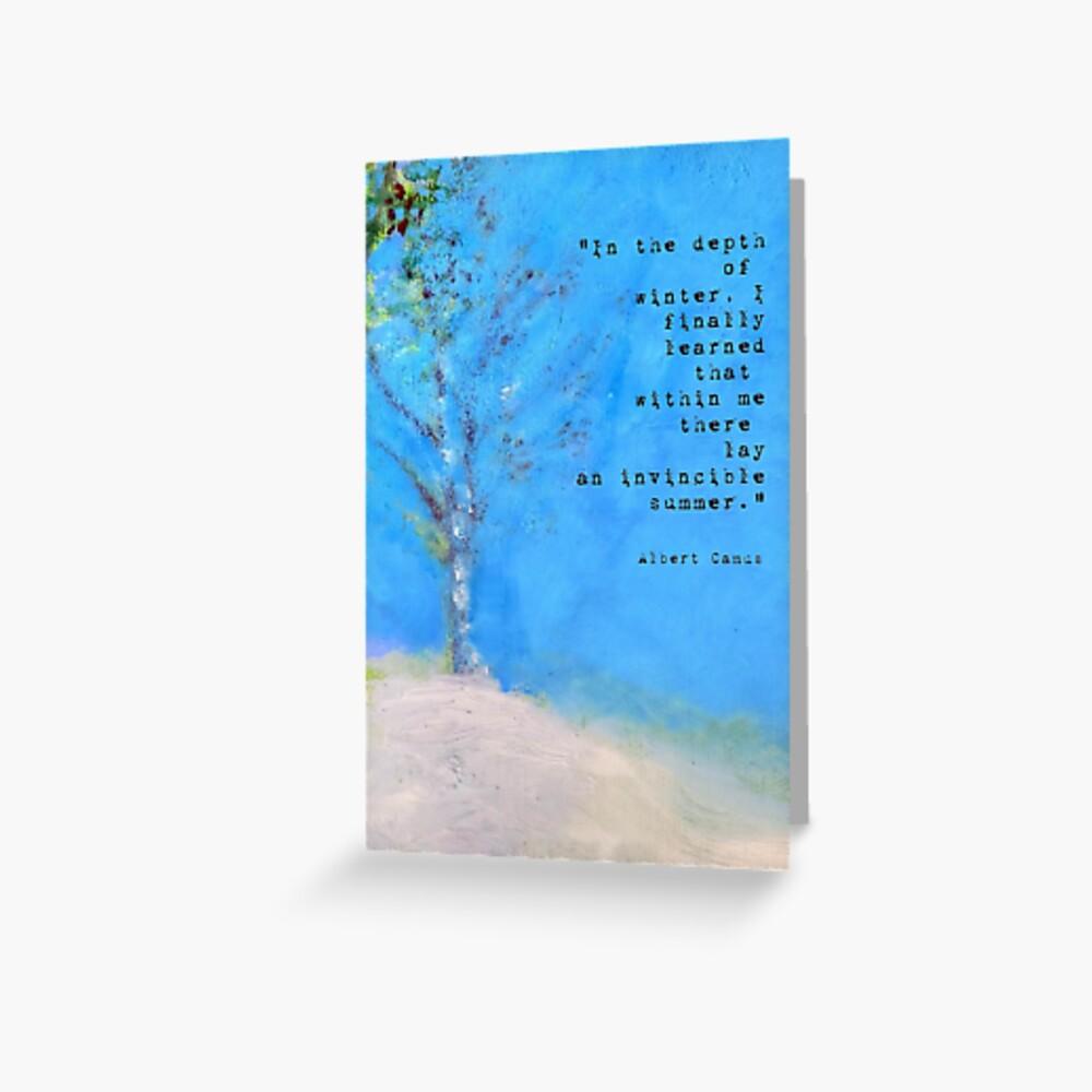 Im tiefsten Winter: Landschaftsmalerei Grußkarte Grußkarte
